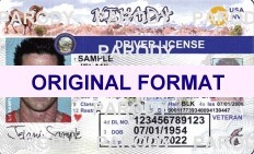 fake id nevada driver license scannable with hologram