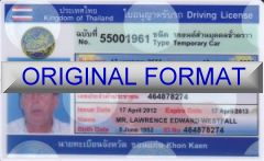 THAILAND DRIVER LICENSE ORIGINAL FORMAT, DESIGN SPECIFICATIONS, NOVELTY SECURITY CARD PROFILES, IDENTITY, NEW SOFTWARE ID SOFTWARE