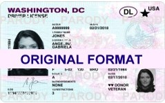 WASHINGTON,DC DRIVER LICENSE ORIGINAL FORMAT, DESIGN SPECIFICATIONS, NOVELTY SECURITY CARD PROFILES, IDENTITY, NEW SOFTWARE ID SOFTWARE